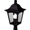 Elstead Chapel Mini CPM4 Black Garden Pedestal Lantern